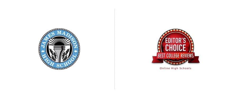James Madison High School Seal & Best Online High Schools Seal